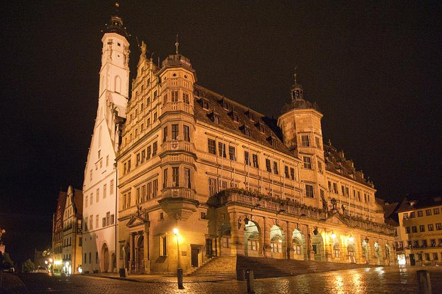 Marktplatz, City Hall by night