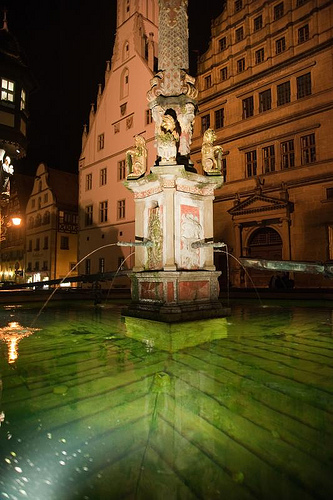 Rothenburg fountain